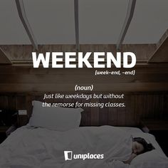 Everybody loves it and everybody is thinking about it right now.  Keep it up. It's Friday!  #FFunday #Friday #Weekend #UniplacesLiving #Studentlife #Holidays #Studyabroad #studyingabroad