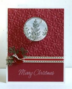 PINES IN FROSTED WINDOW by jhaddad59 - Cards and Paper Crafts at Splitcoaststampers