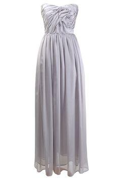 Silver Flower - szara suknia ślubna