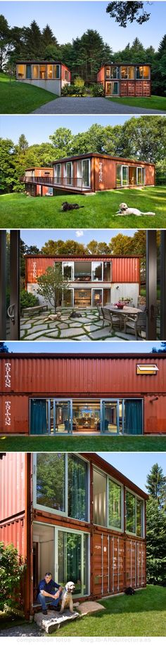 Container House - vivienda-contenedores-apilados-adam_kalkin fotos exteriores - Who Else Wants Simple Step-By-Step Plans To Design And Build A Container Home From Scratch? Building A Container Home, Container Cabin, Storage Container Homes, Container House Design, Container Architecture, Container Buildings, Shipping Container Home Designs, Shipping Containers, Exterior Design