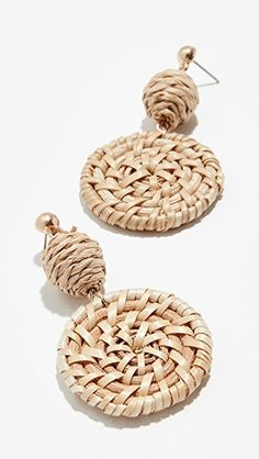 Love these woven neutral earrings from Shopbop!