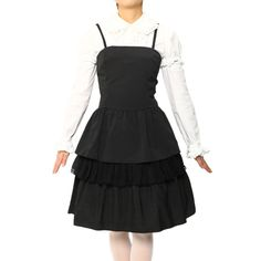 Stripe dress Brand: MIHO MATSUDA ¥ 5,990 including tax Notation size: M Length: 97cm Material: 35% rayon, polyester 100% Color: Black Shearing: None Rank B: dirt-free used clothes http://www.wunderwelt.jp/products/detail1110.html Used Lolita clothing shop Wunderwelt