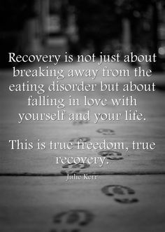 Recovery is about falling in love with yourself and your life... #eatingdisorder #recovery