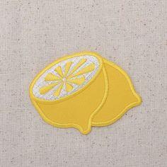 Yellow Half Lemon  Fruit  Iron on Applique  by WholesaleApplique