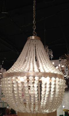 You may have seen colored versions of this chandelier, but the new frosted glass is stunning *and* versatile.  Simply spectacular and sure to be a best seller!  Currey & Co. (IHFC - M110) #hpmkt #stylespotters