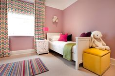Teenage Girls Bedroom by Forum Interior Design. Farrow & Ball Cinder Rose and All White Pink Bedroom For Girls, Teenage Girl Bedrooms, Girl Rooms, Rose Bedroom, Bedroom Decor, Bedroom Ideas, Cinder Rose Farrow And Ball, Farrow And Ball Bedroom, Feature Wall Living Room