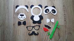 Accessoires photobooth x 11 thème panda : Autres papeterie par stefebricole