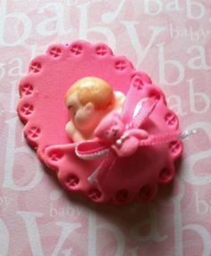 12 Baby Appliques Cold Porcelain Good Night by CreationsbyLuciris, $9.60