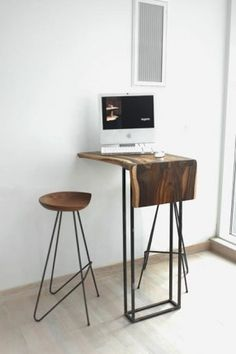 Wall-mounted mini workstation