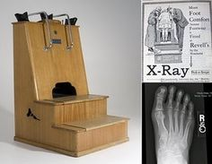 The shoe fitting fluoroscope, commonplace in shoe stores during the 1930s through 1940s.