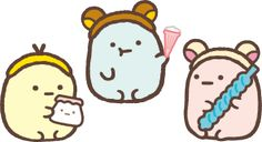 Sumikko gurashi tapioca playtime Kawaii Doodles, Kawaii Chibi, Cute Chibi, Kawaii Cute, Cute Animal Drawings, Kawaii Drawings, Cute Drawings, Cute Images, Cute Photos