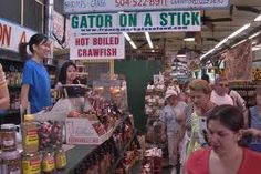 #New Orleans French Market. Alli'gator' on a stick! Was amazingly good-tastes like chicken!