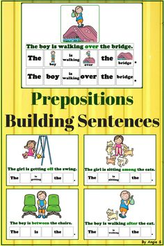 Prepositions Activity - Building Sentences for Special Education #prepositions #sped #autismresources #tpt #teacherspayteachers  #esl #kindergarten For more activities follow https://www.pinterest.com/angelajuvic/autism-and-special-education-resources-angie-s-tpt/