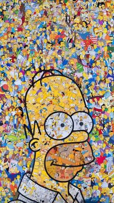 background, food, homer simpson, the simpsons Cartoon Wallpaper, Simpson Wallpaper Iphone, Iphone Wallpaper, Homer Simpson, The Simpsons, Cute Wallpapers, Wallpaper Backgrounds, Pop Art, Street Art