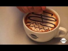 Creative Latte Art Presents : How to make latte art tutorial 10 for beginners. In this latte art actually you can use coffee as well but here in this video o. Cappuccino Art, Coffee Latte Art, Cappuccino Machine, Coffee Cafe, My Coffee, Coffee Beans, Coffee Shop, Latte Art Tutorial, Chocolates