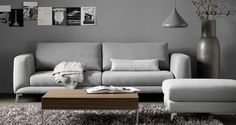 Grey living room by BoConcept