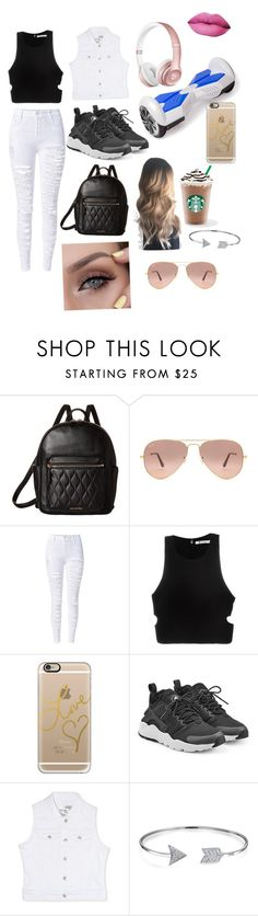 """""""Casual day with Hoverboard and Starbucks!!"""" by dasminxoxoquinn on Polyvore featuring Vera Bradley, Ray-Ban, T By Alexander Wang, Casetify, Beats by Dr. Dre, NIKE, Rhythm in Blues and Bling Jewelry"""