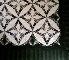 """Close-up of quilting design, """"No Grey Area"""" by Kim Brunner"""