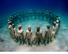 Under water sculpture in Grenada, in honor of our African ancestors thrown overboard
