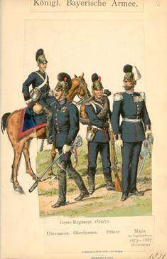 Bavarian officers, 1870
