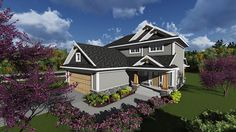 House Plan 75233 | Bungalow Cottage Country Craftsman Traditional Plan with 1617 Sq. Ft., 3 Bedrooms, 3 Bathrooms, 2 Car