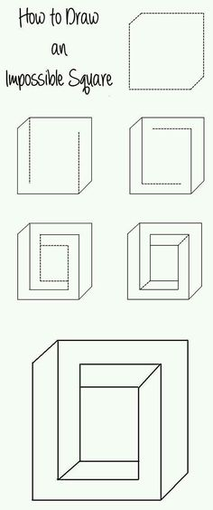 How to draw an impossible sqare
