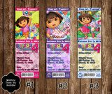 Dora the Explorer Birthday Party Ticket Invitation