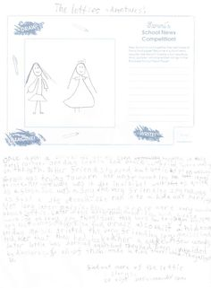 Sammi's School News Competition - Rowan age from England, has created a fun story with a twist in the end for Sammi's Newspaper. Thanks for sharing! Newspaper Article, Thanks For Sharing, Rowan, Toys For Girls, Competition, Thankful, England, Age, Writing