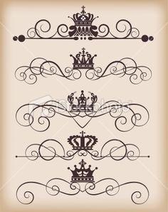 Vintage crowns background