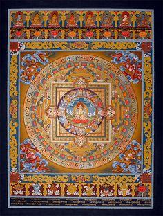 Thangkas. Bodhisattva White (Weiße) Tara Mandala Thangka / Sitatara / Grolma Karmo. Wunderschöne Thangkas und Mandalas von Schneelöwe - Beautiful Thangkas and Mandalas by Snow Lion.