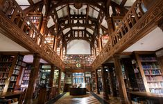 Gladstone's Library at St. Deiniol's, Hawarden, Wales, UK, opened in 1894, designed by John Douglas