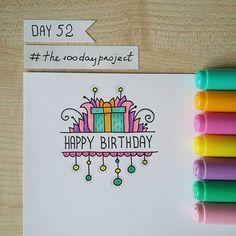 Happy Birthday Doodles, Happy Birthday Drawings, Birthday Card Drawing, Cool Birthday Cards, Birthday Card Design, Bday Cards, Handmade Birthday Cards, Doodle Quotes, Karten Diy
