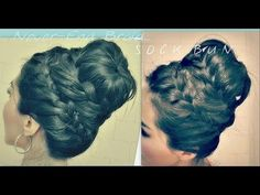 ♥ Dont forget to LIKE & FAVORITE  to try this hairstyle later! ♥  More detailed explanation about this updo here : http://www.makeupwearables.com/2013/01/how-to-never-ending-french-braid-sock.html  How to do the never-ending braid bun tutorial. A never-ending French braid sock bun on yourself, which is quite more complicated than doing it on so...