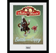 From our range of gaming prints is this Fallout Bottle and Cappy framed collector print. Measuring and printed on FUJI film photographic stock each of our collector prints features artwork not found on our other product formats making each of thes Fallout Posters, Nuka World, Poster Prints, Framed Prints, Christmas Stocking Fillers, Mdf Frame, How To Make Box, Prints For Sale, The Collector