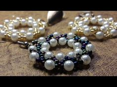 Beautiful rings with Pearls and Mostacillas ... Class 39 !!! - YouTube