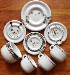 Painted porcelain via Outside Voice – DIY or DIE
