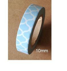 Washi Tape  ♥ 10mm ♥ 10 metres ♥ Blanc avec motif peau de serpent en bleu  : Masking tape par la-folie-du-ruban