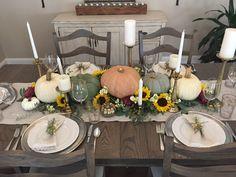 Beautiful Autumn Tablescape