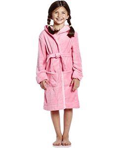 Choco Moon Kids Robe Boys Girls Solid Hooded Fleece Sleep Robe Bathrobe (2  Toddler- 959dff0a9