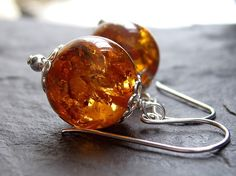 Looking at these stones makes me sooo happy - Amber Earrings.