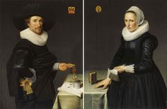 Willem Willemsz van der Vliet, A pair of portraits of Willem de Langue and Maria Pijnaeker. Both oil on panel, each approx. 113.2 x 86.3 cm. © Sotheby's Amsterdam