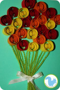 Rolled paper roses