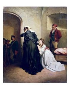 Giclee Print: Marie Antoinette Departing to Her Execution : 24x18in