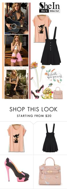 """""""Go and fix your make up, girl, it's just a break up"""" by fashionqueen76 ❤ liked on Polyvore featuring Charlotte Olympia, sukiwaterhouse and shein"""