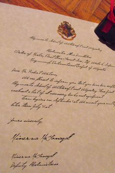 To 'send' a letter from Hogwarts to my little sister when she'll be 10 <3