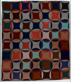 This quilt, Robbing Peter to Pay Paul, is thought to have been made in Pennsylvania around 1880. The maker is unknown. Credit: International Quilt Study Center & Museum