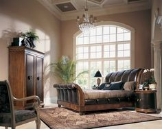 Bob Mackie Crocodile embossed leather sleigh bed...must have!  Oh wait, I do!  ;p
