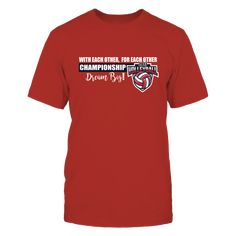 """Volleyball Championship - With Each Other, For Each Other T-Shirt, """"With Each other, for each other"""" is the slogan for the University of Nebraska Husker volleyball team. Congratulations to the University of Nebraska Volleyball team in winning the 2017 NCAA Volleyball Championship. CLICK THE GREEN BUTTON for sizes and discount on shipping when ordering more than... ,  Available Products:          Gildan Unisex T-Shirt - $25.95 Gildan Long-Sleeve T-Shirt - $33.95 Gildan Unisex Pullover Hoodie…"""
