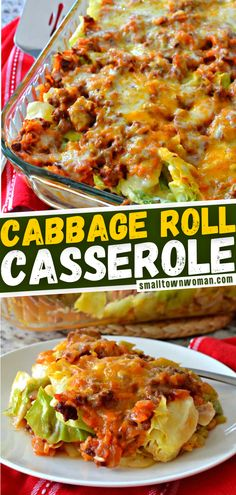 This comforting cabbage roll casserole with cheese is a great family weeknight meal for busy moms! This tasty dinner recipe brings all the delicious flavors of cabbage rolls together with a lot less time and effort. Save this pin for later! Delicious Dinner Recipes, Great Recipes, Keto Recipes, Cooking Recipes, Healthy Recipes, Cabbage Roll Casserole, Cabbage Rolls, Weeknight Meals, Tasty