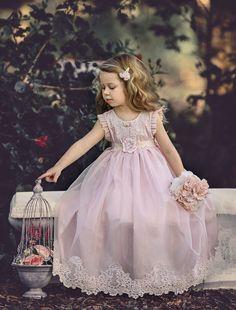 Cheap Pink Tulle Lace Applique Ball Gown Little Girl Dresses, Flower Girl Dresses Cute Flower Girl Dresses, Tulle Flower Girl, Tulle Flowers, Pink Tulle, Tulle Lace, Little Girl Dresses, Girls Dresses, Toddler Flower Girl Dresses, Baby Dress